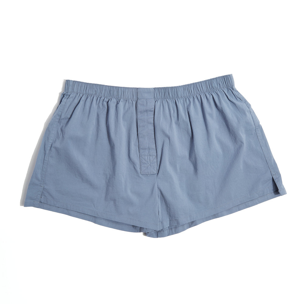 Short-Cut Cotton Boxer Indigo Blue