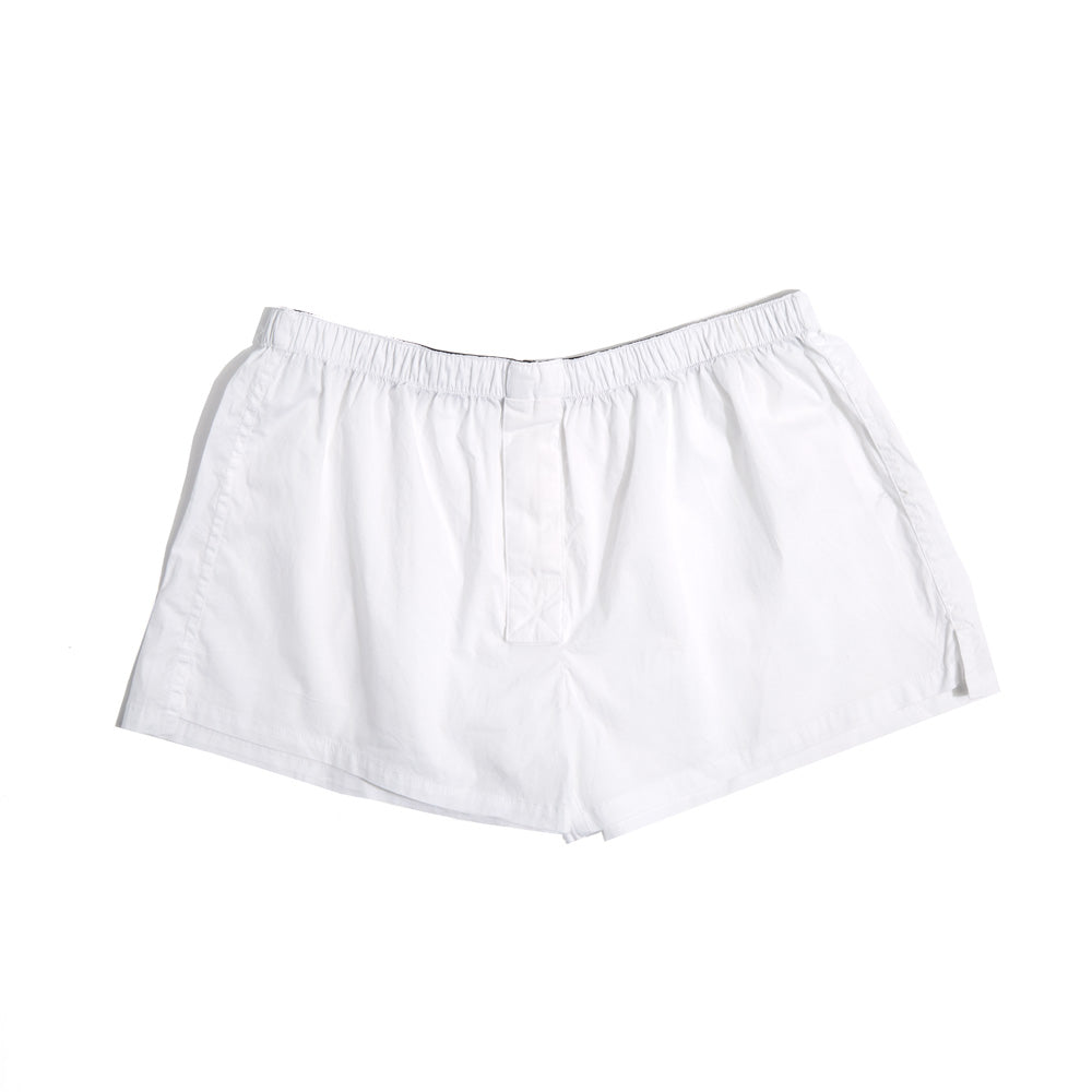 Short-Cut Cotton Boxer White