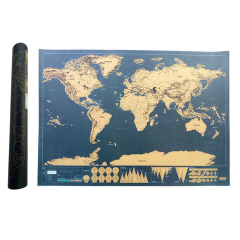 Scratch Map Of The World Travel Edition Deluxe