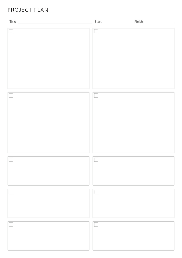 Printable - Project Planning Pages