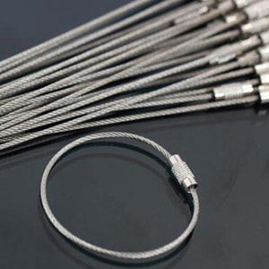10 PCS Stainless Steel Keychain Ring - at sylentbeast.net an online store for outdoor gear.