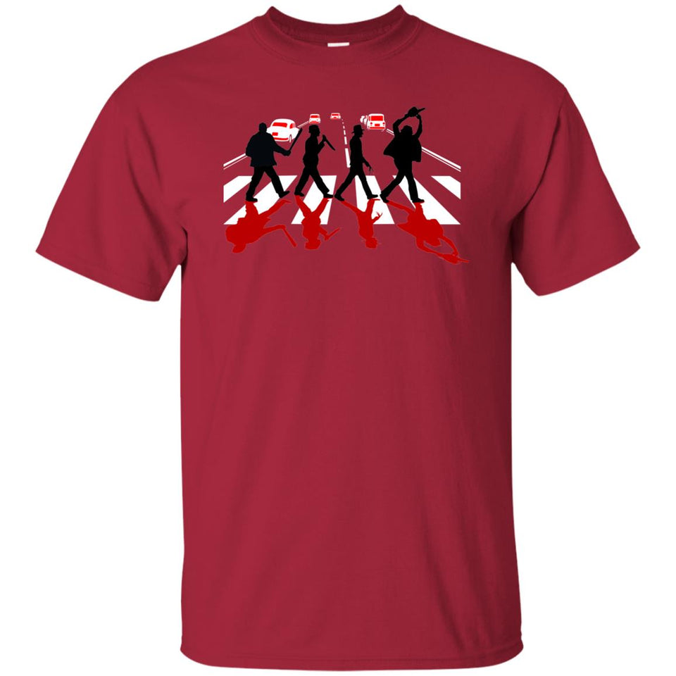 1 - RTP - Caffein Art - Abbey Road Killer Red - Horror Art - Adult Unisex T-Shirt