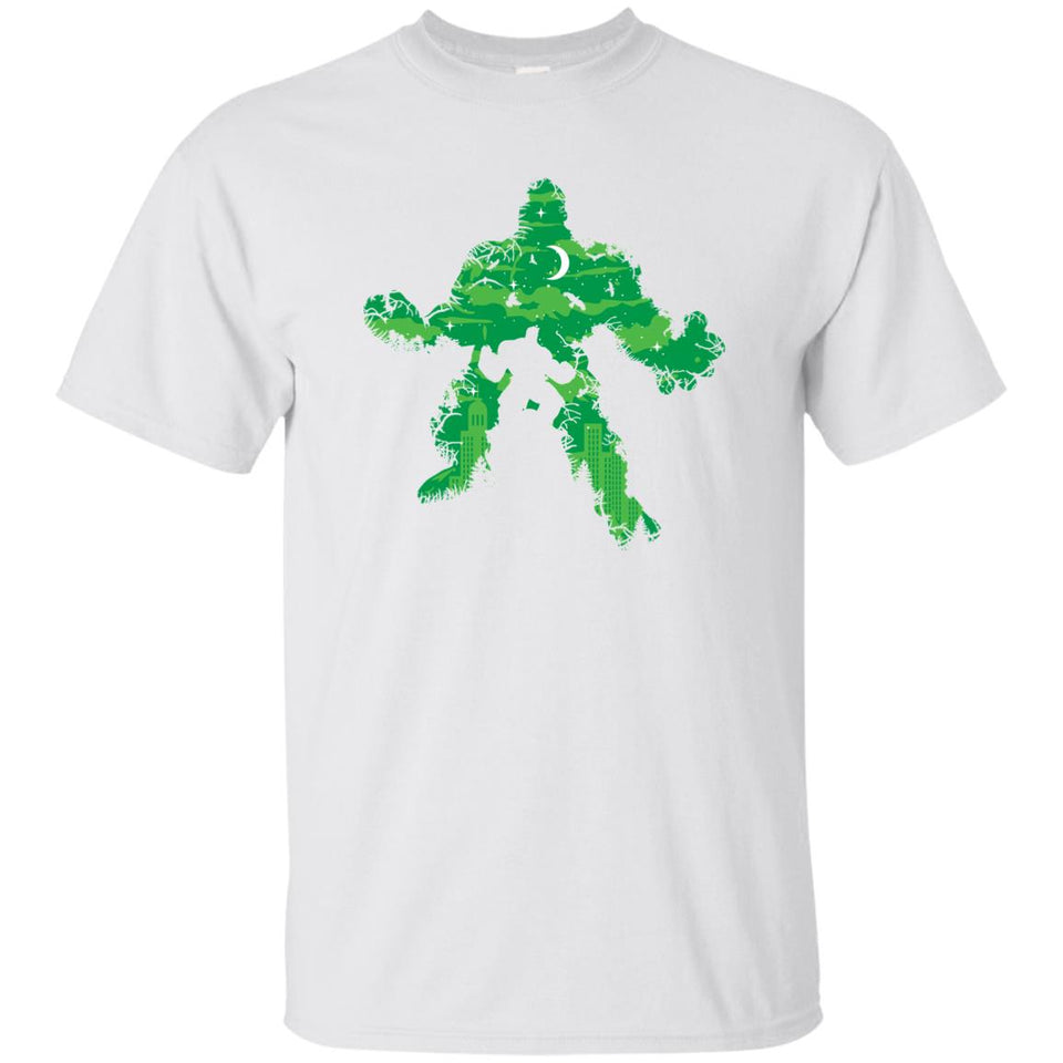 47 - RTP - Caffein Art - Green Monster - Super Heroe Art - Adult Unisex T-Shirt