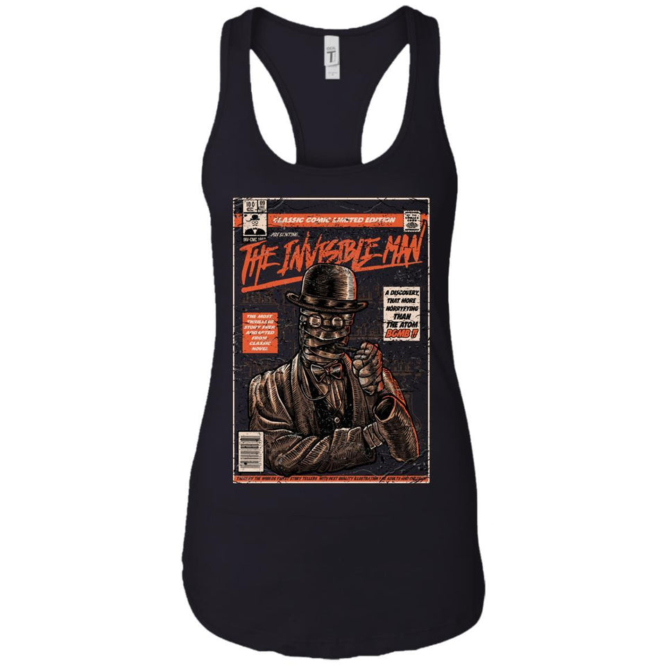 The Invisible Man - Horror Art - Women's Racerback Tank Top