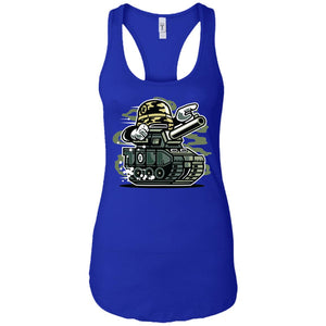 War Tank - Military Art - Women's Racerback Tank Top