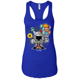 Gift From Outer Space - Astronauts Art - Women's Racerback Tank Top