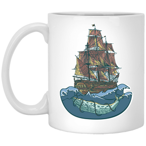 733 - RTP - Maria Funny Bundle - Whale Ship - XP8434 11 oz. White Mug