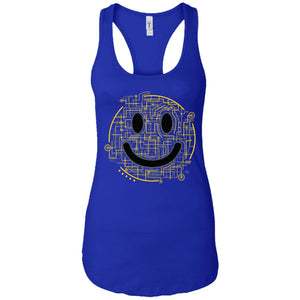Electric Smiley - Doodle Art - Women's Racerback Tank Top