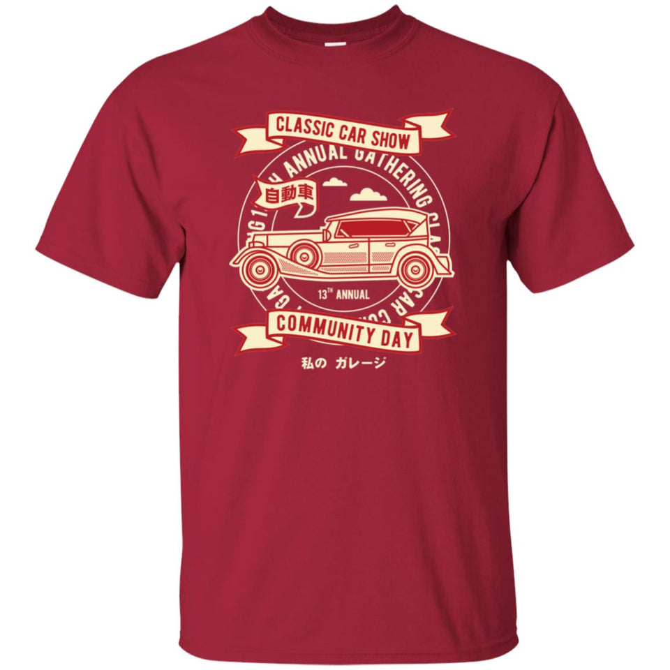 125 - RTP - Roach Graphics - Classic Car Show-01 - Adult Unisex T-Shirt