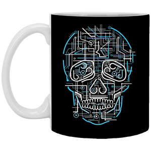 Electric Skull - Doodle Art - 11 oz. White Mug - 35