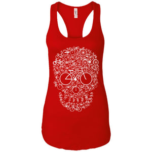 Bicycle Skull - Skull Art - Women's Racerback Tank Top