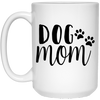 2138 - Dog Mom - 15 oz. White Mug