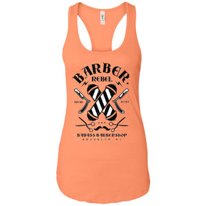 Barber Rebel Ii - Barber Art - Women's Racerback Tank Top