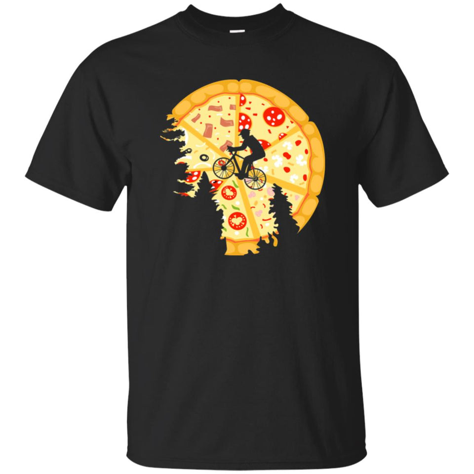 66 - RTP - Caffein Art - Pizza Moon - Pizza Art - Adult Unisex T-Shirt
