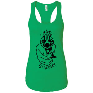 Hate stalkers - Tattoos Art - Women's Racerback Tank Top