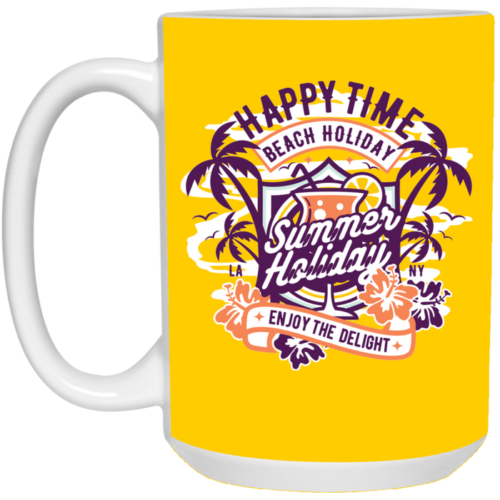 Happy Time - Happy Art - 15 oz. White Mug - 162