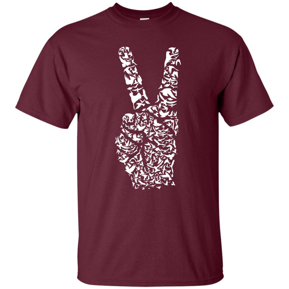 65 - RTP - Caffein Art - Peace - Doodle Art - Adult Unisex T-Shirt