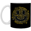 Electric Smiley - Doodle Art - 11 oz. White Mug - 36