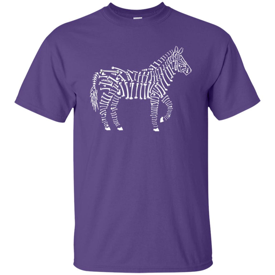 100 - RTP - Caffein Art - Zebra Bones - Animal Art - Adult Unisex T-Shirt