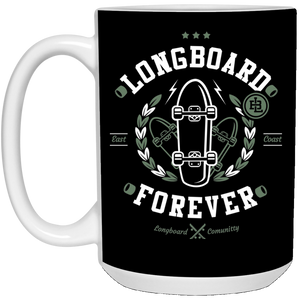 Long Board - Street Style Art - 15 oz. White Mug - 186
