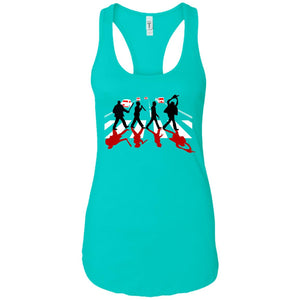 Abbey Road Killer Red - Horror Art - Women's Racerback Tank Top