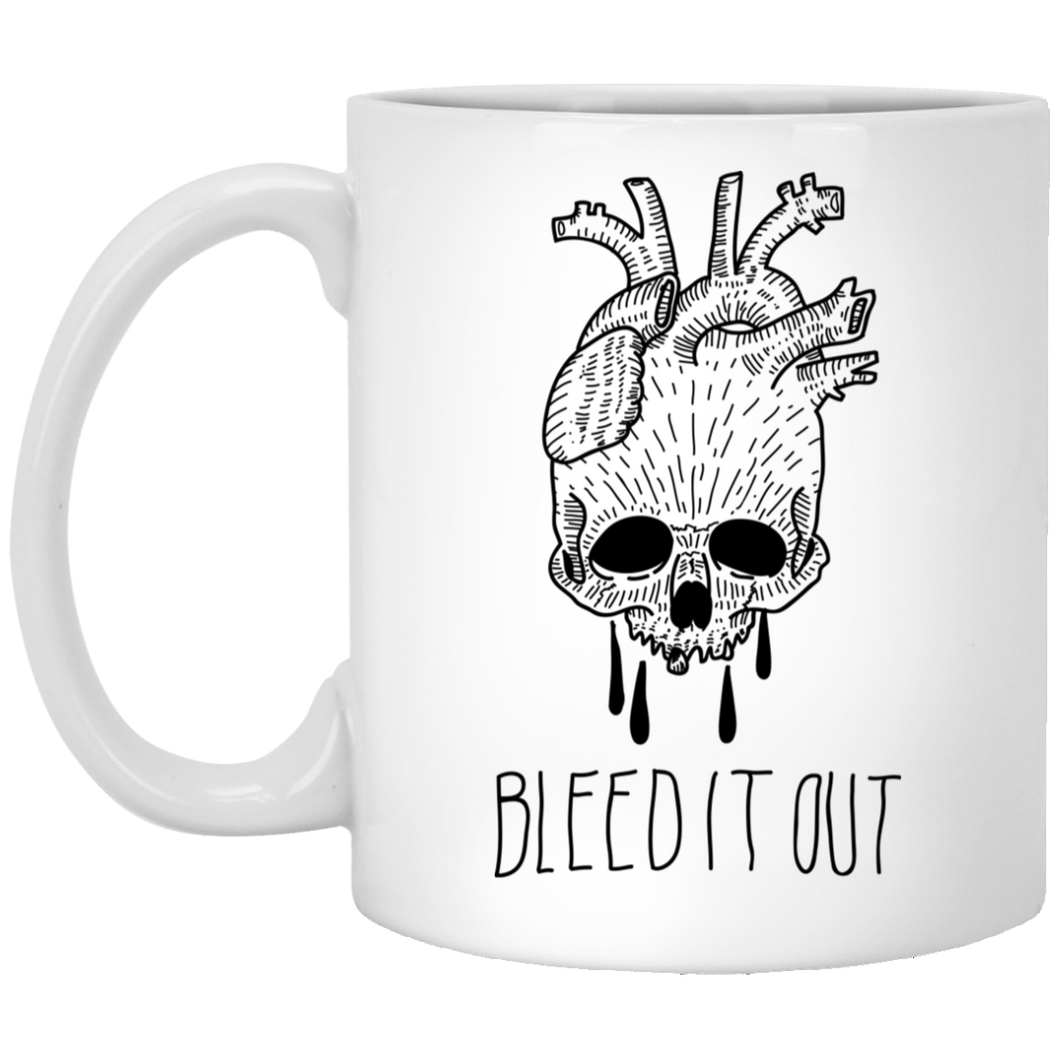 Bleed it - Tattoos Art - 11 oz. White Mug - 383