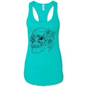 Skull flowers - Tattoos Art - Women's Racerback Tank Top