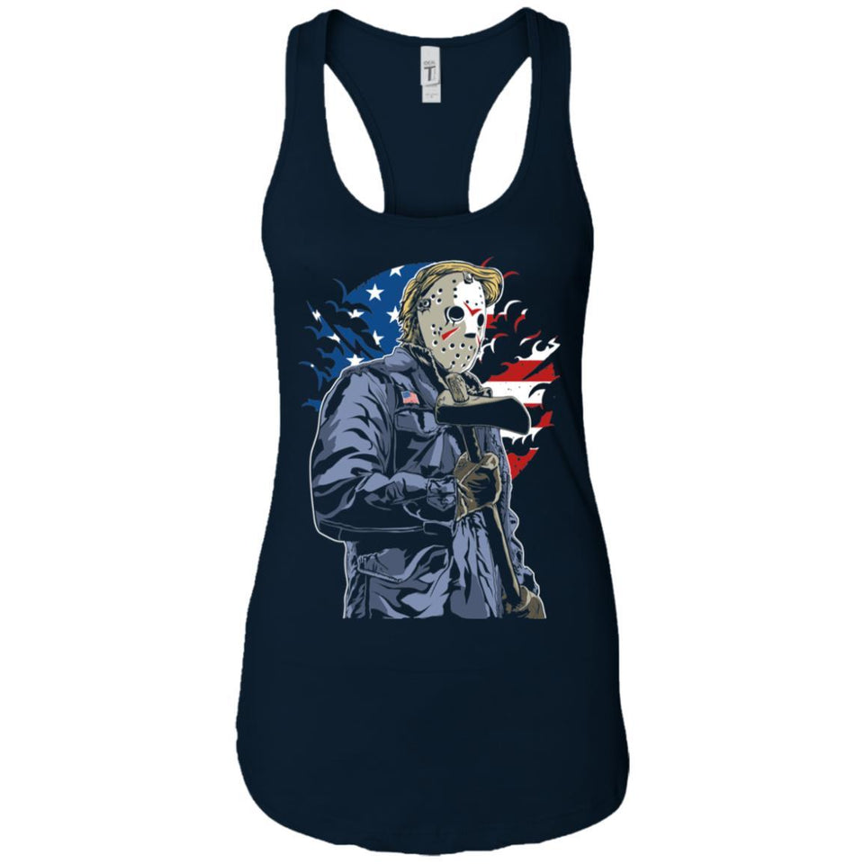 American Killer - Horror Art - Women's Racerback Tank Top