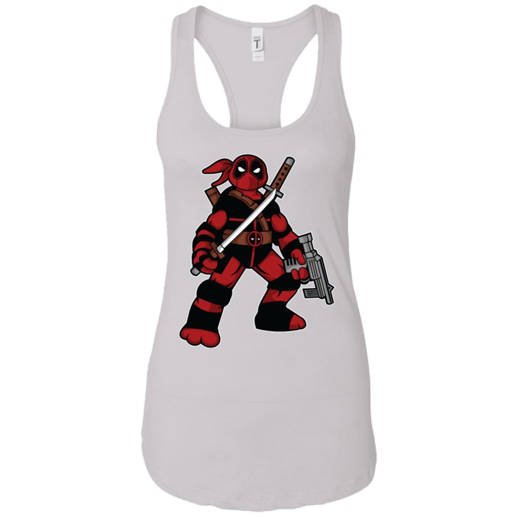 Ninja Deadpool-01 - Movies Art - Women's Racerback Tank Top