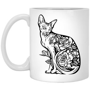 Cat-01 - Tattoos Art - 11 oz. White Mug - 399