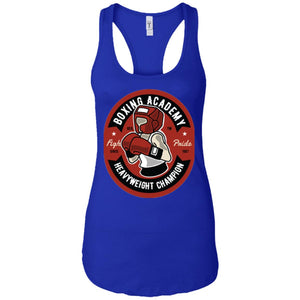 Boxing Academy -  Sports Art - Women's Racerback Tank Top