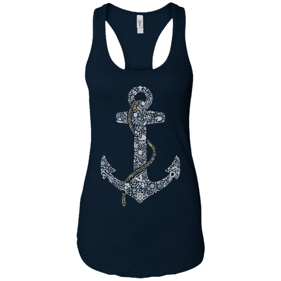 Anchor - Doodle Art - Women's Racerback Tank Top