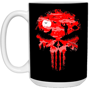 86 - RTP - Caffein Art - Stand And Bleed - Horror Art - 21504 15 oz. White Mug