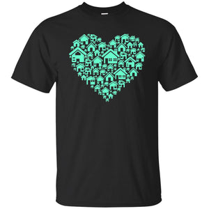 53 - RTP - Caffein Art - Home Heart - Doodle Art - Adult Unisex T-Shirt