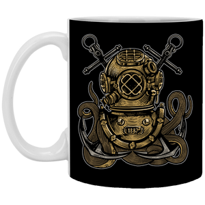 Diver Octopus - 11 oz. White Mug - 293
