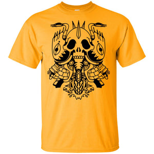 562 - Tattoos Art - Skull motorcycle - Adult Unisex T-Shirt