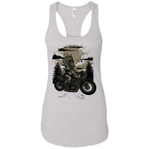 Indian Chief Rider - Horror Art - Women's Racerback Tank Top
