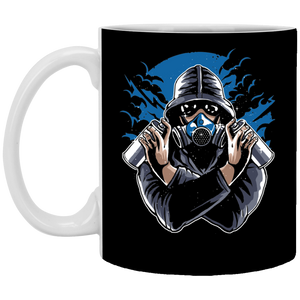 Graffiti Gasmask copy - 11 oz. White Mug - 309