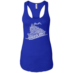 Train Song - Music Art - Women's Racerback Tank Top