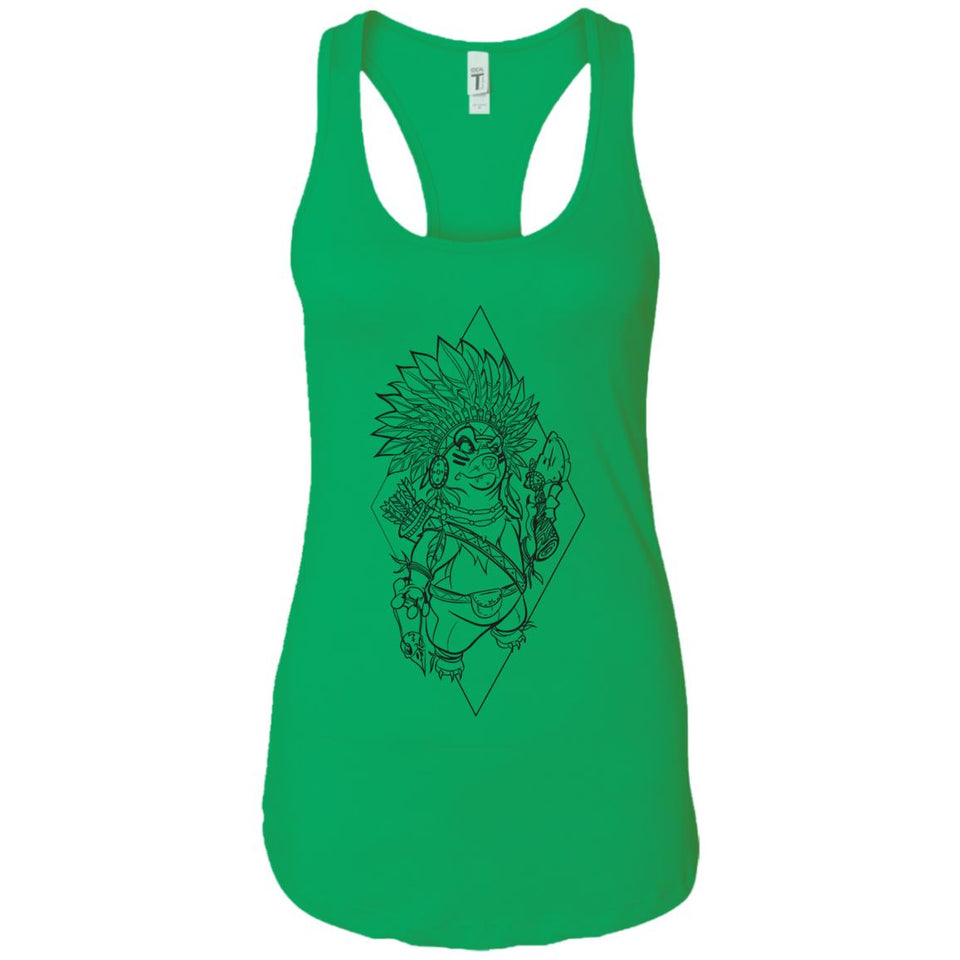 Indian Dog - Tattoos Art - Women's Racerback Tank Top