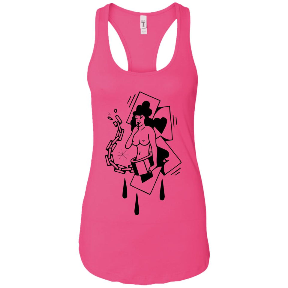 Poker girl - Tattoos Art - Women's Racerback Tank Top