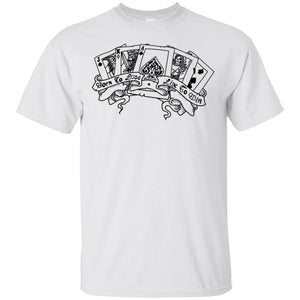 532 - Tattoos Art - Play hard - Adult Unisex T-Shirt