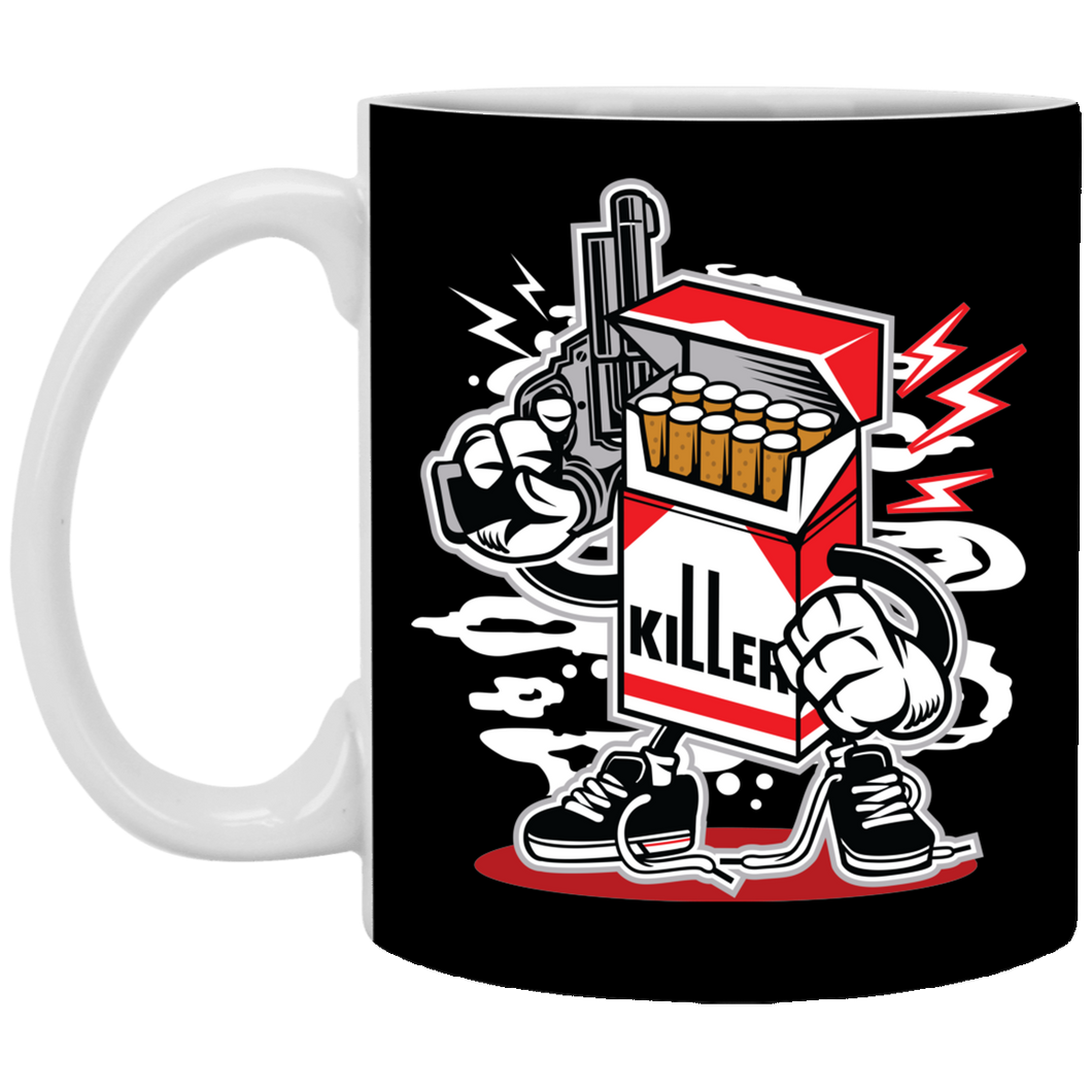 Cigarette Killer - 11 oz Ceramic Mug - 123