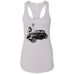 Sexy car - Tattoos Art - Women's Racerback Tank Top