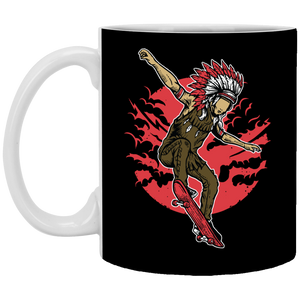 Indian Chief Skateboard - 11 oz. White Mug - 313