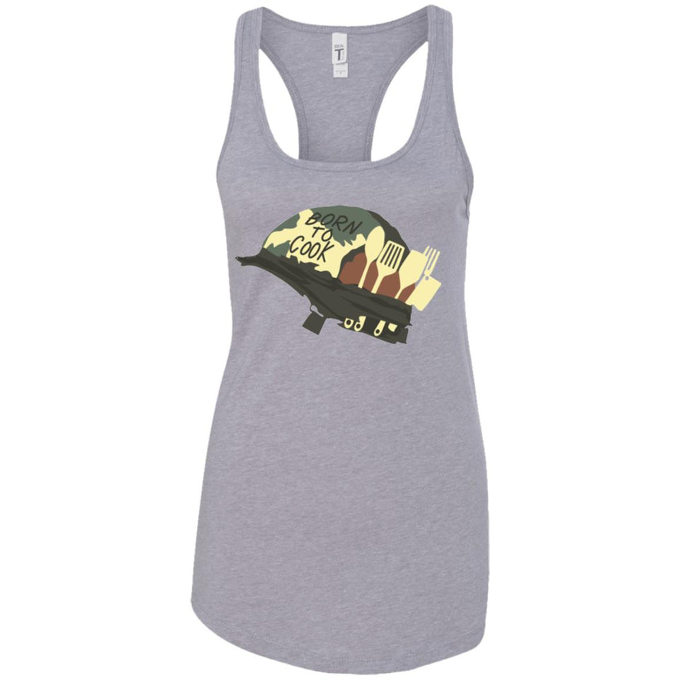 Born To Cook - Military Art - Women's Racerback Tank Top