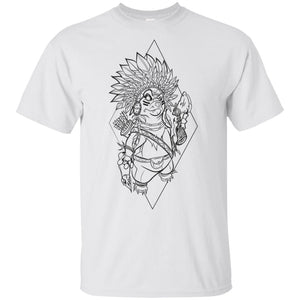467 - Tattoos Art - Indian Dog G200 Gildan Ultra Cotton T-Shirt