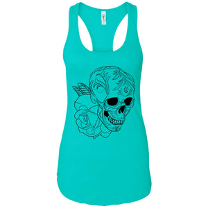 Skull flower - Tattoos Art - Women's Racerback Tank Top