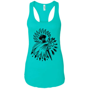 Bald - Tattoos Art - Women's Racerback Tank Top