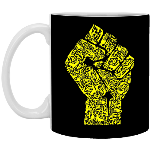 Hand Of Revolution - Weapons Art - 11 oz. White Mug - 49